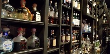 Liquor Bottles on Display